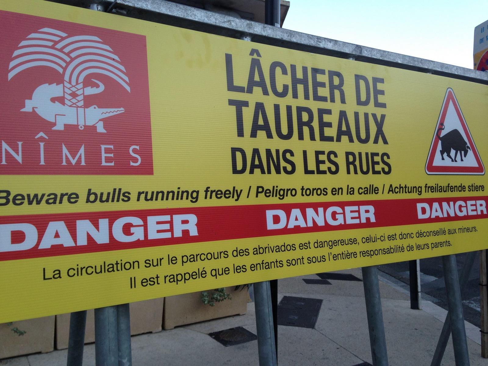 Abrivado barriers Nîmes