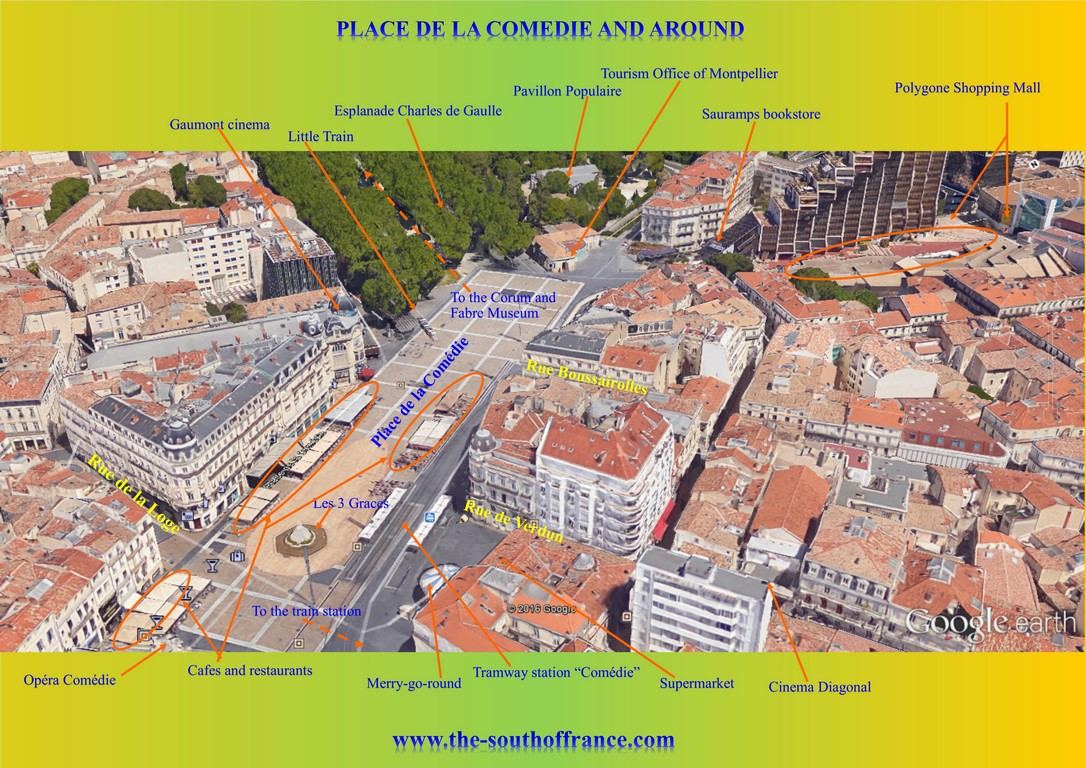 Place de la comedie map